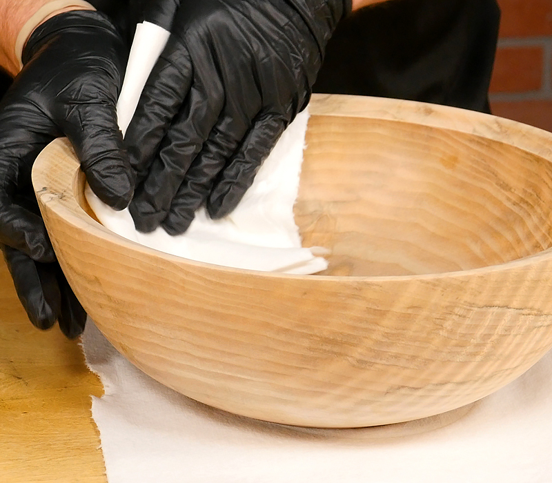 Applying a Food-Safe Wood Finish with Mahoney's Walnut Oil